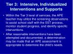 tier 3 intensive individualized interventions and supports