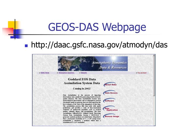 GEOS-DAS Webpage