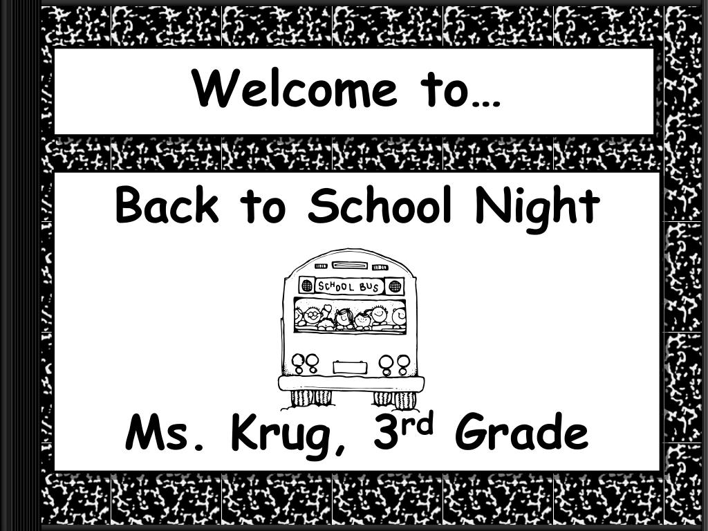 Ppt Back To School Night Ms Krug 3 Rd Grade Powerpoint