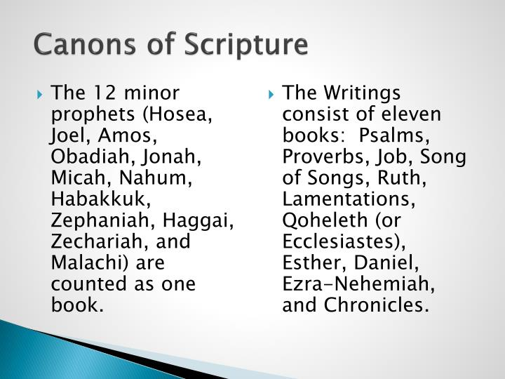 Canons of scripture