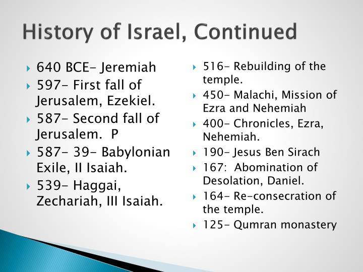 History of Israel, Continued