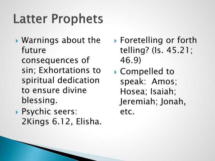 Latter Prophets