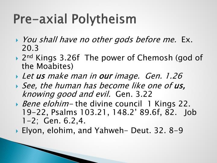 Pre-axial Polytheism
