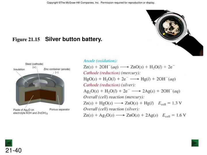Silver button battery.