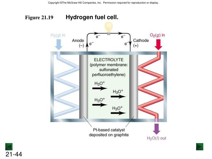 Hydrogen fuel cell.