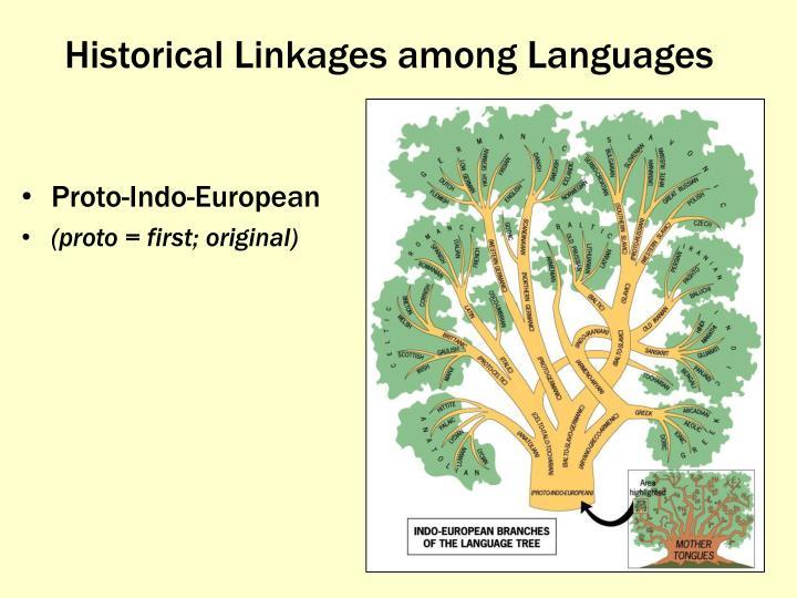 Historical Linkages among Languages