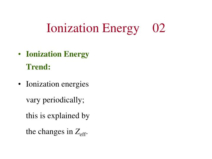 Ionization Energy02