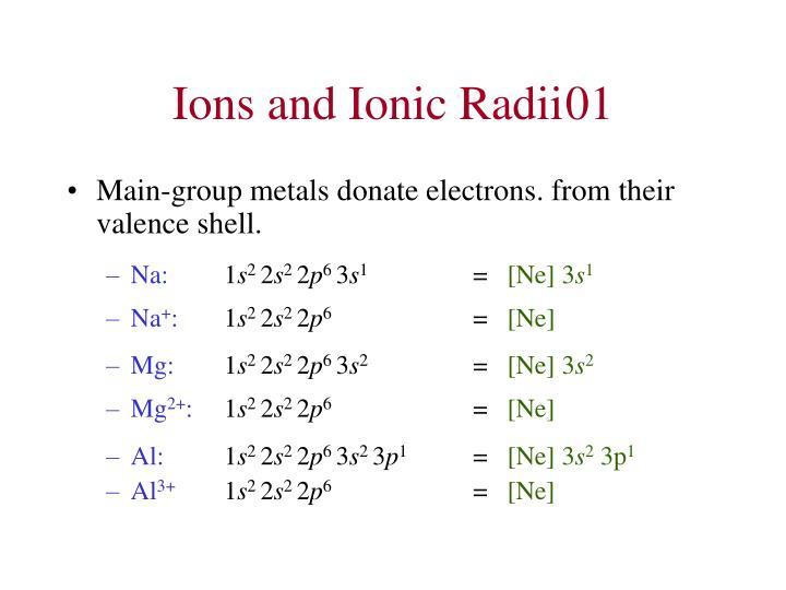 Ions and Ionic Radii01