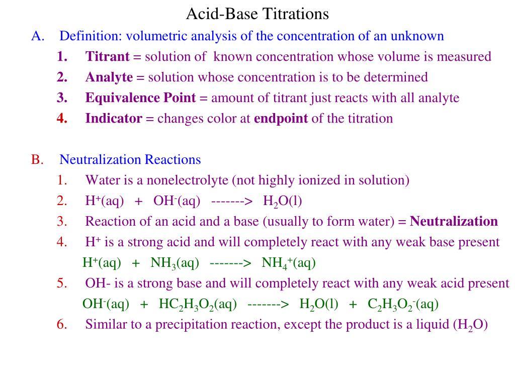 Ppt – volumetric analysis: titration powerpoint presentation.