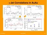 g jet correlations in auau