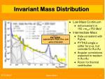 invariant mass distribution