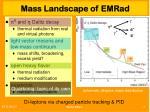 mass landscape of emr