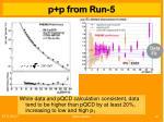 p p from run 5