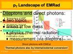 pt landscape of emr