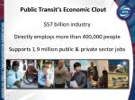 public transit s economic clout