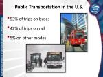 public transportation in the u s