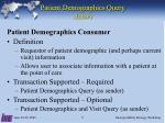 patient demographics query actors