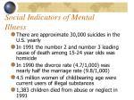 social indicators of mental illness