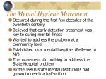 the mental hygiene movement