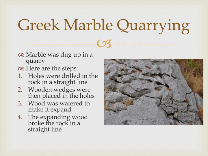 Greek Marble Quarrying