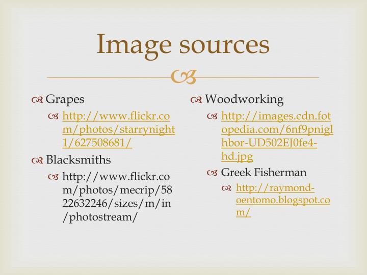 Image sources