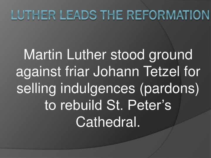 Martin Luther stood
