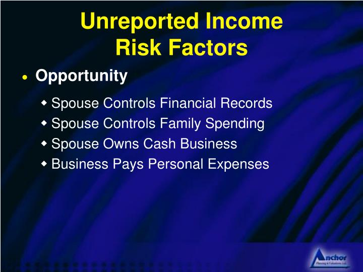 Unreported Income