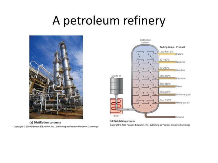 A petroleum refinery