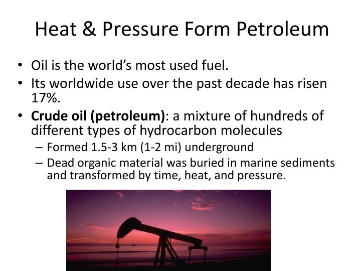 Heat & Pressure Form Petroleum
