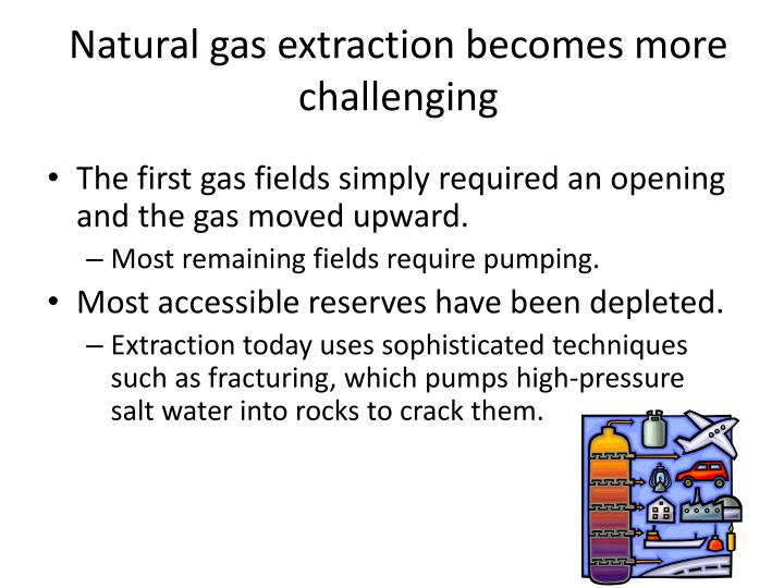Natural gas extraction becomes more challenging