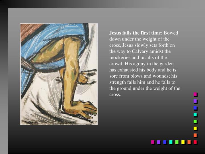 Jesus falls the first time