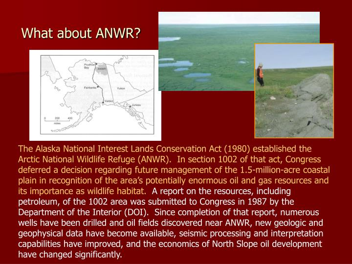 What about ANWR?