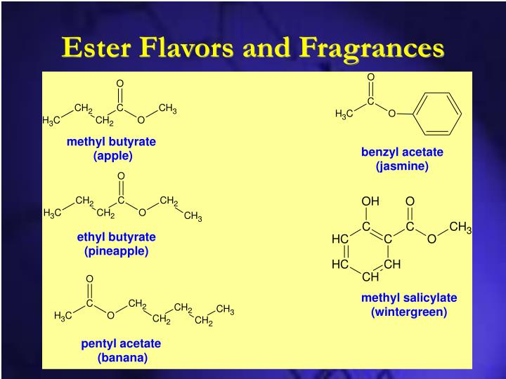 Ester Flavors and Fragrances