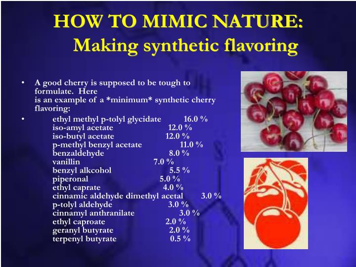 HOW TO MIMIC NATURE: