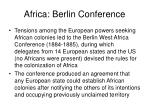 africa berlin conference