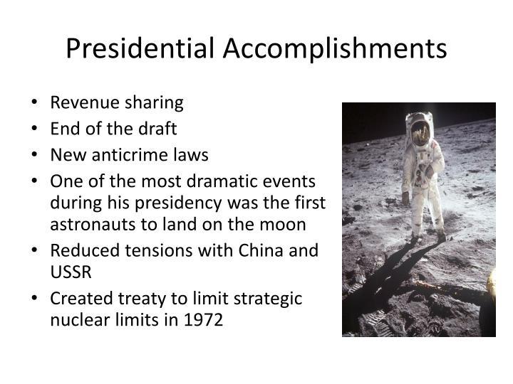 Presidential Accomplishments
