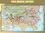 four mongol empires