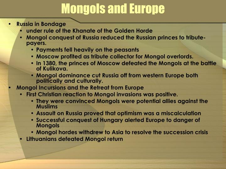 Mongols and Europe