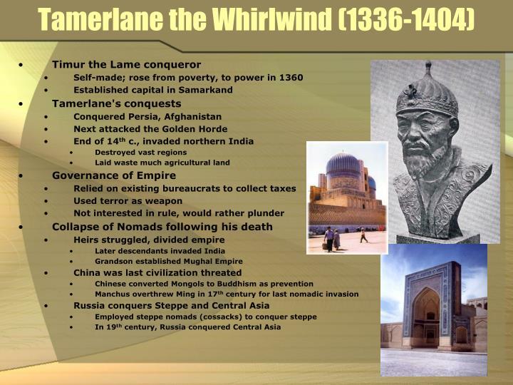 Tamerlane the Whirlwind (1336-1404)