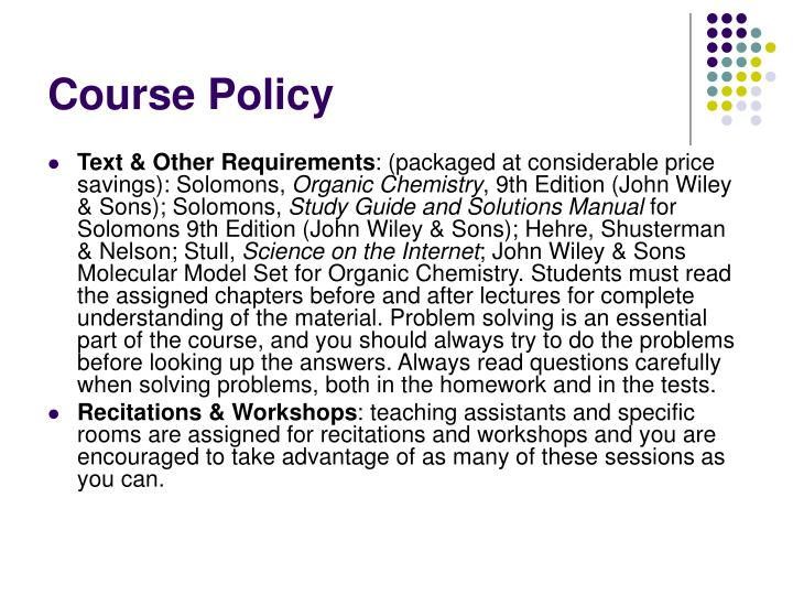 Course Policy