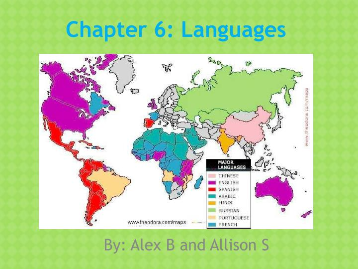 chapter 6 languages