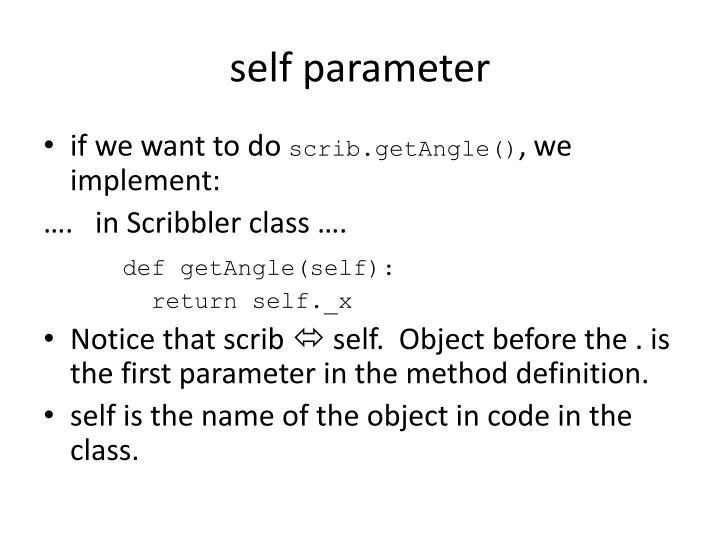 self parameter