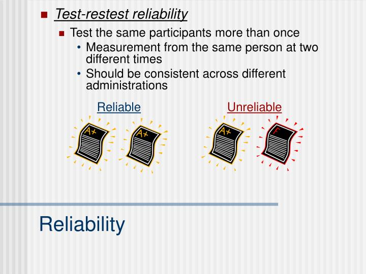 Test-restest reliability