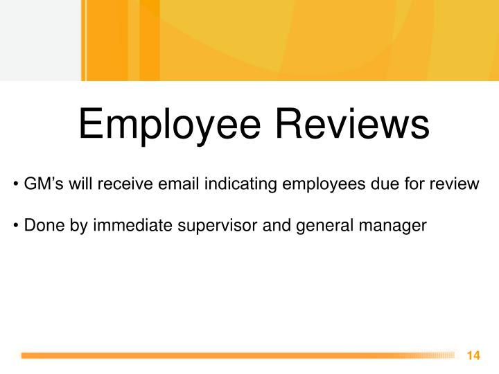 Employee Reviews