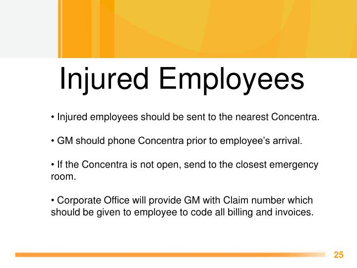 Injured Employees