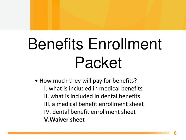 Benefits Enrollment Packet