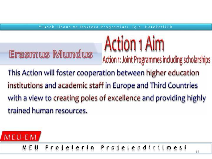 Yüksek Lisans ve Doktora Programları  İçin  Hareketlilik