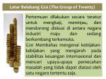 latar belakang g20 the group of twenty2