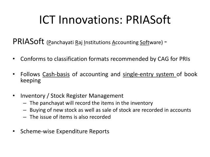 ICT Innovations: PRIASoft