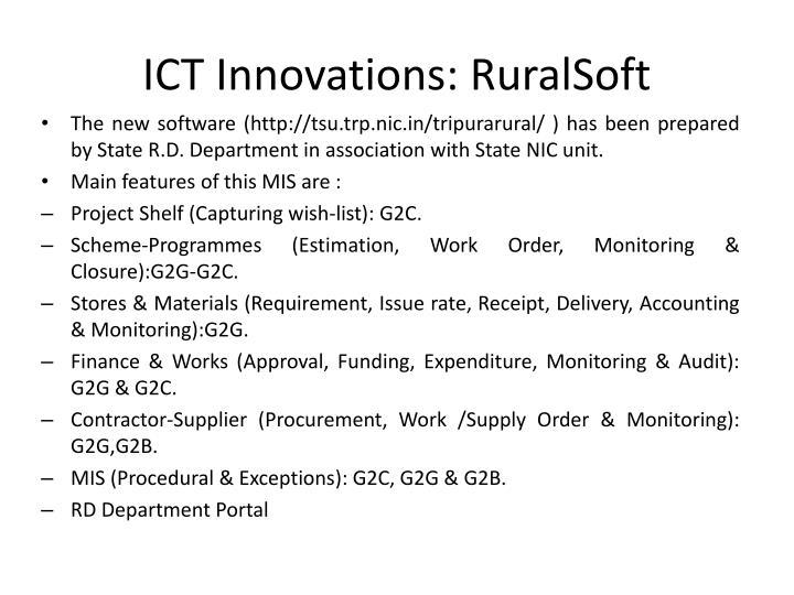 ICT Innovations: RuralSoft